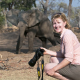 Nick and Elephant in Africa