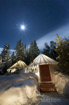 Yurt Camp by night
