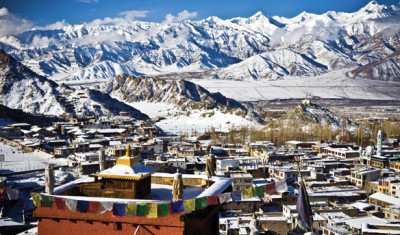 Leh, capital of the former Himalayan Kingdom of Ladakh