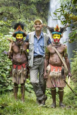 My new friends: chief Timon Tumbu (my left) and Haro Ngibe