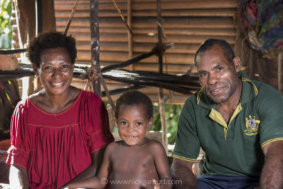 My wonderful hosts in Wagu: Esther and Philip with their youngest daughter Esmee